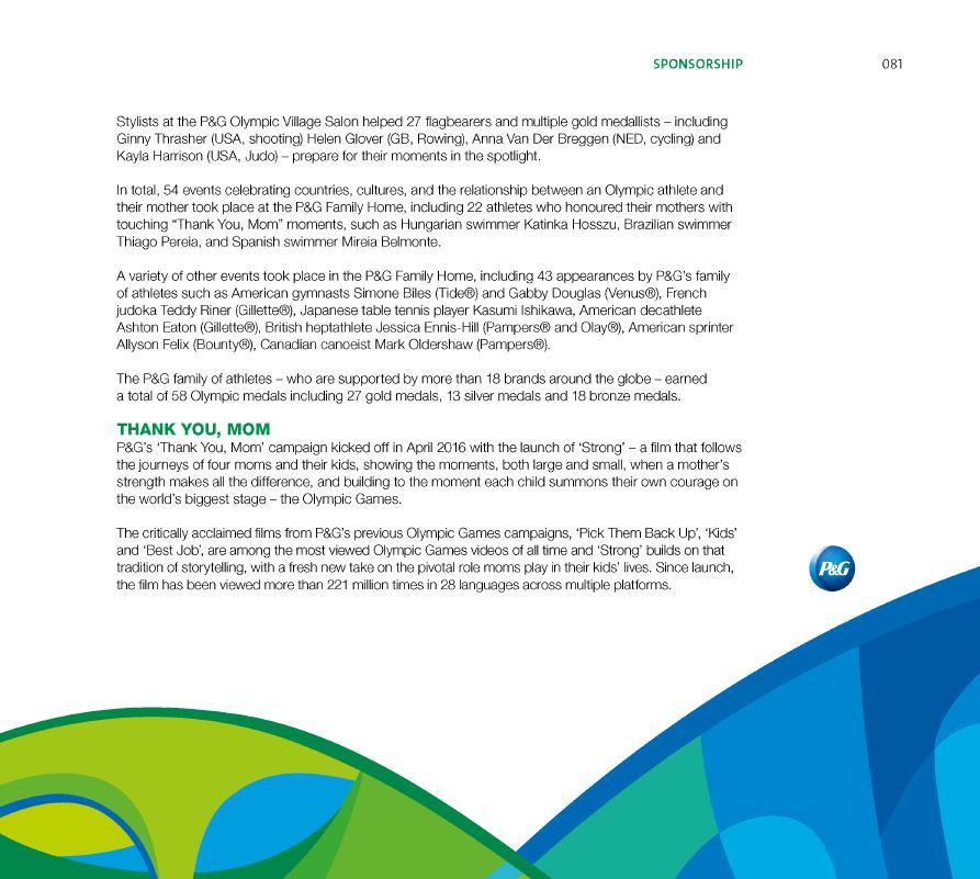 IOC Rio 2016 Marketing Report